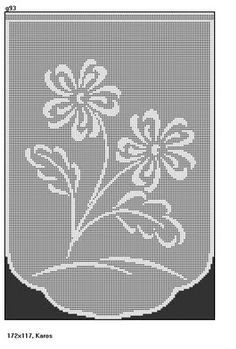 Visit the site for details. Crochet Curtain Pattern, Crochet Curtains, Crochet Doilies, Crochet Flowers, Crochet Stitches Patterns, Doily Patterns, Crochet Designs, Cross Stitch Patterns, Filet Crochet