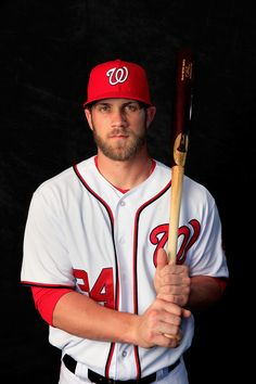 Bryce Harper #34 of the Washington Nationals poses for a portrait during photo day at Space Coast Stadium on February 23, 2014