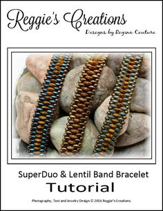 Tutorial  SuperDuo & Lentil Band Bracelet by by ReggiesCreations