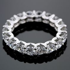 Anniversary Jewelry U-prong eternity band=i want big hint! You are going to wear this? Eternity Ring Diamond, Eternity Bands, Diamond Bands, Diamond Jewelry, Jewelry Rings, Anniversary Jewelry, Anniversary Bands, Vintage Engagement Rings, Beautiful Rings