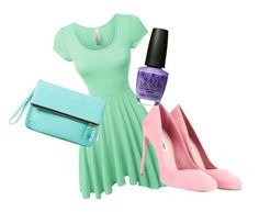 """""""verry formal pastel"""" by nature4ever on Polyvore featuring LE3NO, Miu Miu and Talbots"""