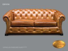 Chesterfield 3 asiento</br>Devon 3 Roble dorado