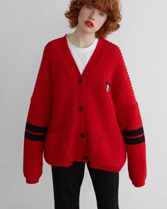 Disney x Lazy Oaf Mickey Mouse College Cardigan http://spotpopfashion.com/j61v