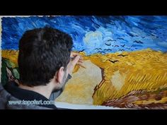 ▶ Art Reproduction (van Gogh - Wheat Field with Crows) Hand-Painted Oil Painting - YouTube