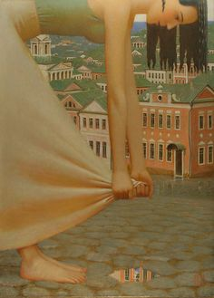 """""""Thunderstorm"""" Andrey Remnev, 2006 Tempera on canvas."""