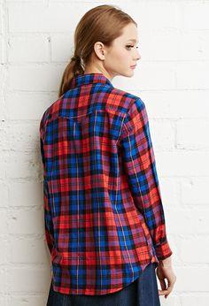 Tartan Plaid Snap-Button Shirt