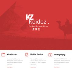 Koidoz - Free Psd Template on Behance