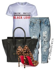 """""""Untitled #1361"""" by visionsbyjo on Polyvore featuring INC International Concepts, CÉLINE, Christian Louboutin, women's clothing, women's fashion, women, female, woman, misses and juniors"""
