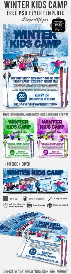 Kids Summer Camp Brochure - Word Template \ Publisher Template - camp flyer template