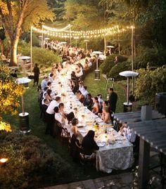 Très tendance en 2012 la table de mariage façon banquet -  Photo : Gia Canali