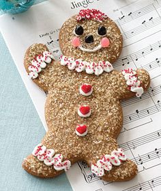 Gingerbread Girl, and I like the way they sprinkled sugar on her!