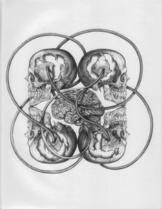 Tool Skulls Original Sketch Prints - Poster Size - Black & White - Print of Highly-Detailed, Handmade Drawing By Artist Mike Duran    http://citymoonart.com/tool-skulls-original-sketch-prints-poster-size-black-white-print-of-highly-detailed-handmade-drawing-by-artist-mike-duran/