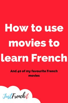 How to use movies to learn French + 40 of the best french movies How to use movies to learn French? It's a good question. Because, just putting on one of the best French movies is not going to cut it. French Language Lessons, French Language Learning, French Lessons, Spanish Lessons, Learning Spanish, Spanish Activities, Learning Italian, French Tips, French Articles