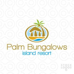 Logo shows a bungalow on the beach under a coconut palm tree. Additional keywords: holidays, cocktail bar, relax, chill out, bungalow, surf. Perfect logo for a holiday destination somewhere on a tropical island or close to the beach. Logo also suitable for beach resort, a disco club at the seaside, cocktail bar, vacation house rental agency.
