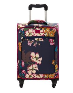 Joules Womens Wheelie Trolley, Navy Cambridge Floral.