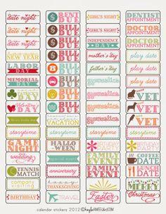 DIY Planner & co.: Etichette colorate