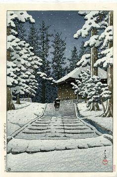 平泉金色堂 Hasui Kawase, Konjikido in Hiraizumi, 1957 〜絶筆〜