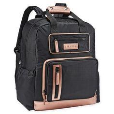 b04e009a7d7 JJ Cole Papago Pack Diaper Bag In Black rose Gold