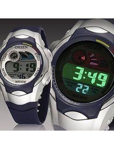 Männer schwarz Runde Zifferblatt Silikonband Japan-Bewegung Mode Tauchen Sportuhr Armbanduhr (farbig sortiert) - http://uhr.haus/weiq/maenner-schwarz-runde-zifferblatt-silikonband-22