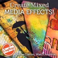 mixed media workshop with Marjie Kemper - online workshop craftsy.me/1ONw8iG