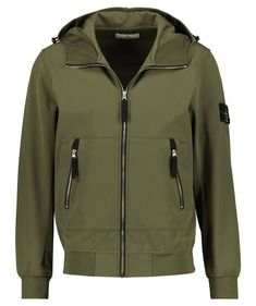 "Stone Island - Herren Blouson ""Light Soft Shell-R"" mit Kapuze Soft Shell, Stone Island, Spring And Fall, Go Green, Spring Outfits, Shells, Athletic, Clothing, Fashion"