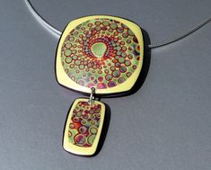 Pendant Sun Rise by ST-Art-Clay, via Flickr
