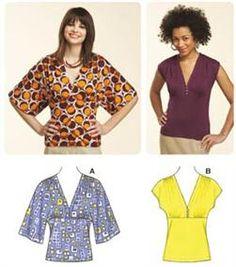 Kwik Sew Kimono Knit Tops Pattern