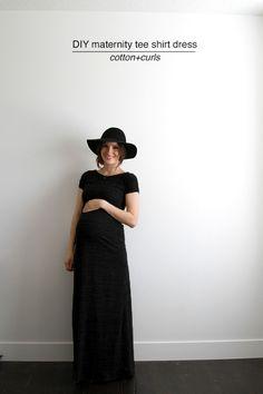 DIY maternity tee shirt dress