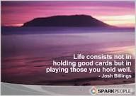 Playing the game of life...