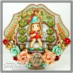 BrossARTaddiction: Delight In Life - Magnolia-Licious DT...Shaped Cards Challenge Team B!!