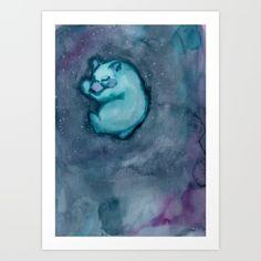 Sleeping babybear Art Print