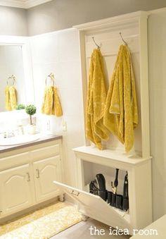 15 + Organizational Ideas for the BATHROOM: Tips + Tricks to help organize every nook & cranny of the bathroom!