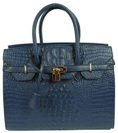 Kysma Hermes Birkin inspired bleu