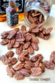 Whiskey Praline Pecans - Cookin' Cowgirl