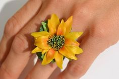 This item is unavailable Summer Day Outfits, Adjustable Ring, Jewelry Art, My Etsy Shop, Sun, Rings, Check, Flowers, Florals