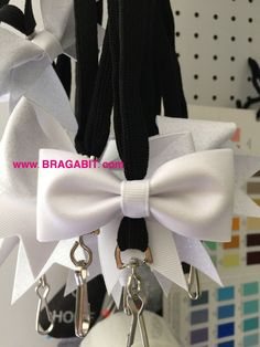 Mini glitter cheer bow lanyard