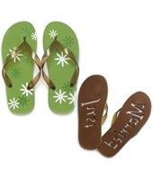 Check out this Graphic Daisy Just Married Flip Flops on the Easy Weddings Shop