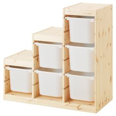 IKEA - TROFAST Storage combination pine light white stained pine, Ikea Trofast Storage, Storage Boxes, Wood Storage, Storage Cabinets, Storage Containers, Diy Understairs Storage, Storage Ideas, Basket Storage, Lego Storage