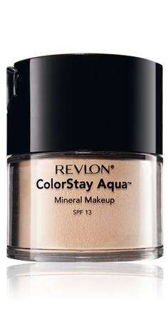 Revlon Colorstay Aqua mineral makeup spf 13 and Mineral Finishing Powder | I wear these (one or the other) when it's too hot to wear anything other than powder. Oil-free, fragrance-free, translucent.