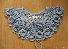 Ideas Crochet Shawl Pattern Wedding Accessories For 2019 Crochet Collar Pattern, Col Crochet, Crochet Lace Collar, Crochet Diagram, Crochet Motif, Irish Crochet, Crochet Shawl, Crochet Designs, Crochet Flowers