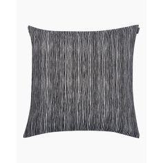 Varvunraita cushion cover 50x50 cm - black, white - All items - Home  - Marimekko.com Cushions, Pillows, Marimekko, Cushion Covers, Pillow Shams, Upholstery, Casual Shorts, Black And White, Sewing