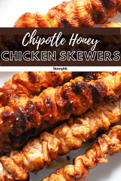 Chipotle Honey Chicken Skewers Healthy Food Options, Good Healthy Recipes, Clean Eating Recipes, Healthy Cooking, Easy Dinner Recipes, Healthy Eating, Cooking Recipes, Clean Eating Slow Cooker Recipe, Clean Eating Meal Plan