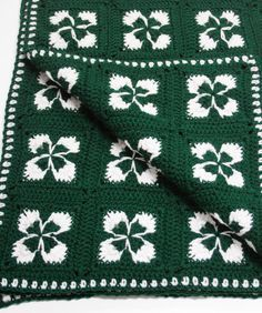Crochet Shamrock Afghan Crochet Pattern | Red Heart