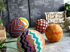Knitted Yoga Ball  FURNISHINGS -- Better Living Through Design