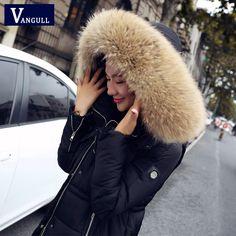 Купить товар2016 новое поступление зимняя куртка женщин длинные хлопка ватник молния зимнее пальто большой меховой воротник капюшон парка женщины парки тонкий куртка в категории Пуховики и паркина AliExpress.           %2