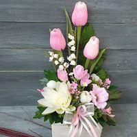 Artificial Flower Arrangements, Artificial Flowers, Floral Arrangements, Easter Wreaths, Flower Boxes, Craft Party, Ikebana, Cheap Home Decor, Easter Crafts