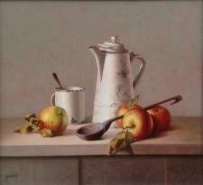 Kunstschilder, fijnschilder, stillevenschilder, Gyula Bubarnik, Hongarije