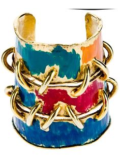 Mercedes Robirosa Vintage - Art link cuff