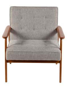 Adrian Armchair by Control Brand at Gilt  Beech wood frame construction in an ash wood, walnut finish Measures 30 inches in width by 30¼ inches in depth by 33½ inches in height Wipe with a damp cloth