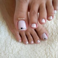 Pedicure Designs, Pedicure Nail Art, Toe Nail Designs, Pedicure Ideas, Pretty Toe Nails, Cute Toe Nails, My Nails, Cute Toes, Toe Nail Color